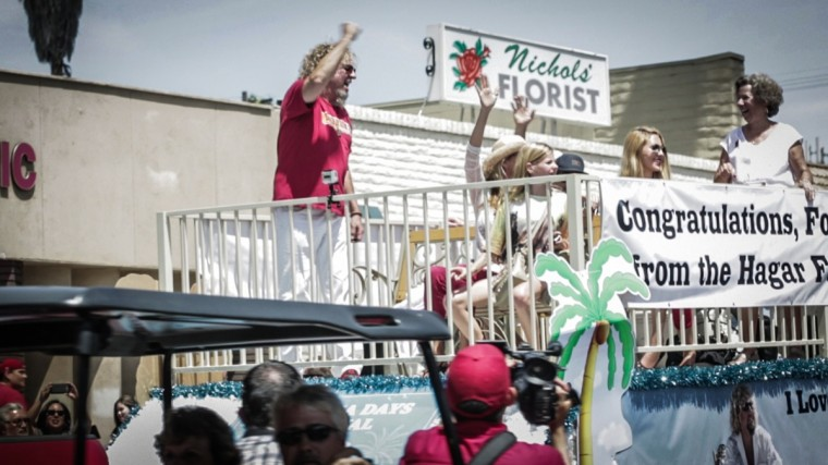 Sammy as Grand Marshal at Fontana Days 100th Anniversary Parade