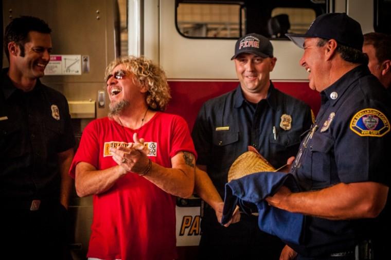 Joking around with Fontana Fire Dept.