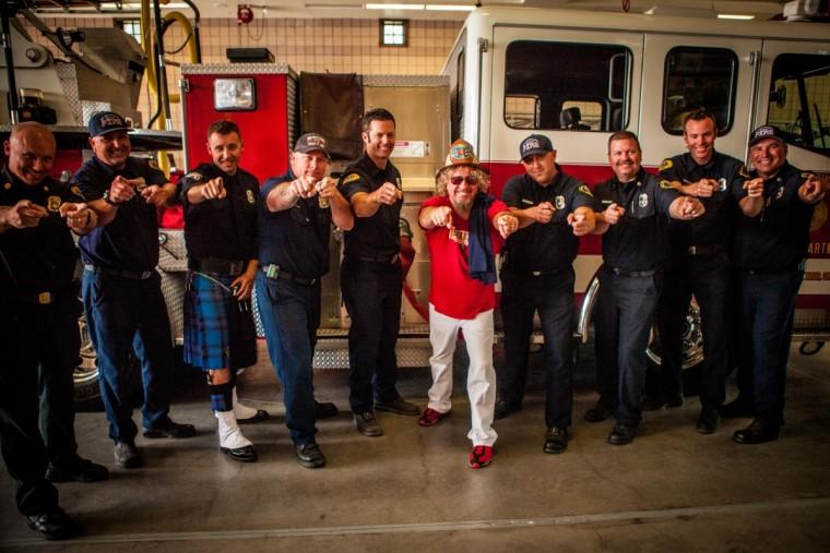 Sammy and Fontana Fire Dept at Fontana Days 100th Anniversary Parade