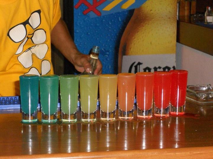 Rainbow shots @ Rips!