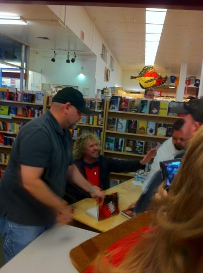 Sammy at book signing in Petaluma, CA