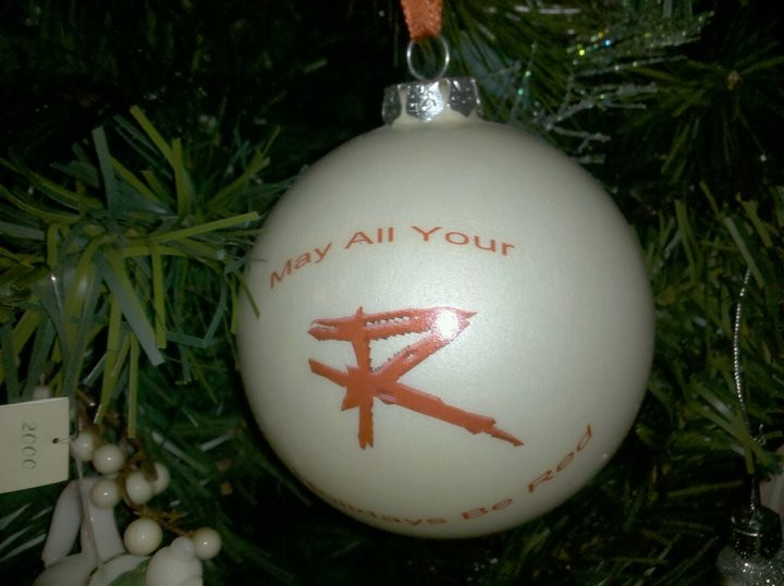 my rockin' Red Chyristmas ornament