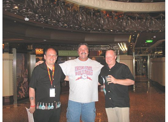 "Brian, Randy and Peter on the ""Redrocker Cruise"""