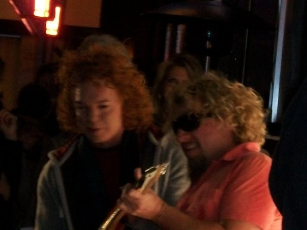 Sammy and Carrot Top Cabo Wabo Las Vegas Grand Opening