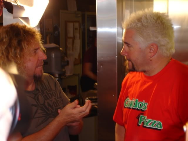 Sammy and Guy Discussing Cabo Wabo Recipes