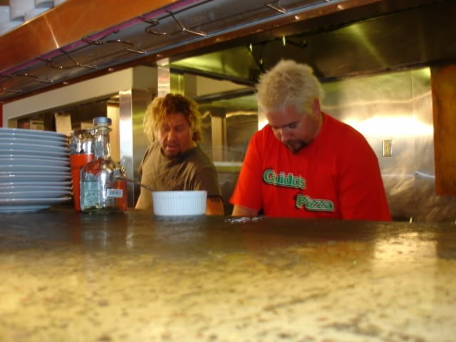 Sammy and Guy Working on Cabo Wabo Recipes II
