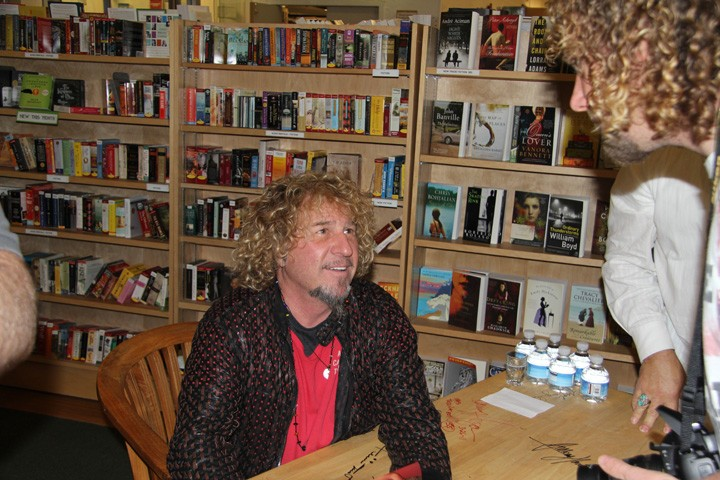 Sammy Book Signing his book for me at Copperfield's in Petaluma