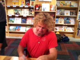 Sammy signing my copy of RED at Left Banks Books in St. Louis