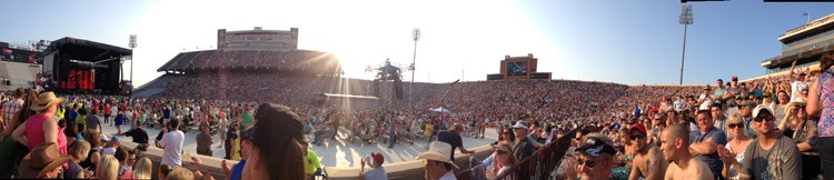 Panoramic photo of Sammy preforming July 6 in Norman, OK
