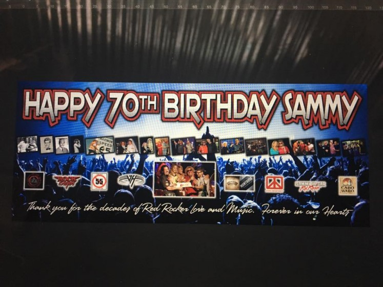 Sammy's 70th Birthday Banner from us in Texas and Oklahoma