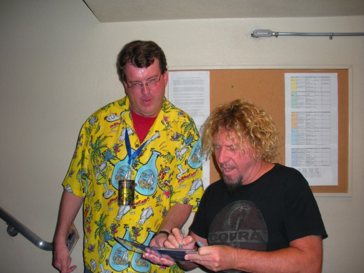 Hanging out on my birthday with Sammy Hagar in Lake Tahoe!