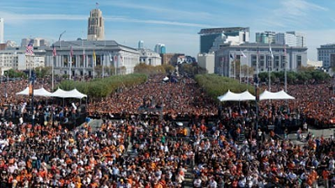 SF Giants celebration...
