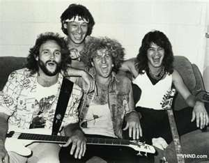 Sammy with Van Halen back in the day.