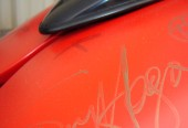 Red Rocker Signature on the Fuel Tank
