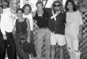 Ron Herbert with Sammy & Van Halen in New York for 5150 Tour