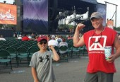 My Son's 1st Rock Concert - August 24, 2013