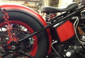 Red Rocker Bobber getting ready for the Biker Expo 25-27 January in Clearwater Florida @ Quaker Steak & Lube