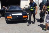 Filming Jay Leno's Garage