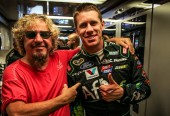 Hanging with my NASCAR buddies