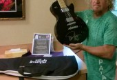 SAMMY HAGAR AUTOGRAPHED GUITAR - AUCTION TO BENEFIT GNG NON-PROFIT CHILDREN'S MUSIC PROGRAM