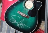 Sammy Hagar autographed Yamaha guitar eBay Auction starts TODAY November 28, 2012 to benefit Guitars not Guns music charity!!!
