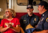 Joking around with Fontana Fire Dept.