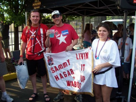 Left to Right: Danny Wissert (Me + My Banner), Jaxon from 93.3 WMMR, Bonnie (My Girlfriend) [2006 Livin It Up Tour, in NJ]