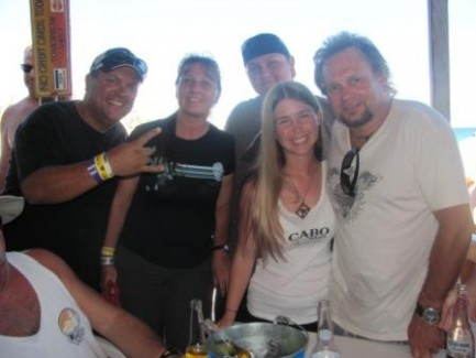 Michael Anthony and my family 10-10-10 at the beach party
