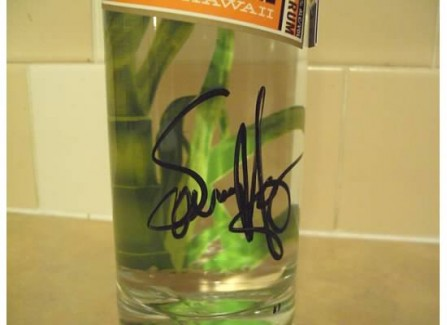Signed Sammy Rum Bottle