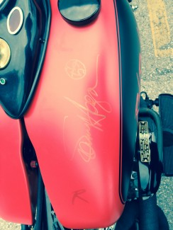 Red Rocker Bobber Panhead is signed by Sammy and ready for Auction