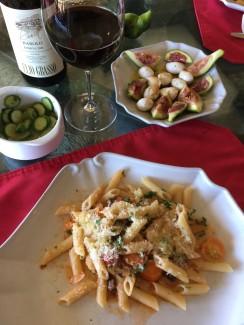 Fresh Garden to Table Dinner - Sammy's Fresh Tomato Sauce