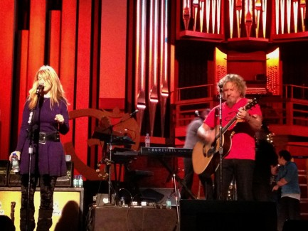 "With Nancy Wilson & Heart for their ""Home for the Holidays"" show"