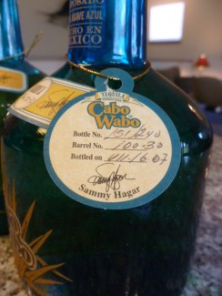 Newly Discovered Bottles of Cabo Wabo Single-Barrel from 2007!!!!