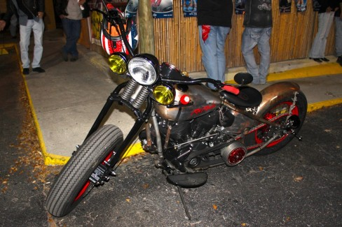 RED ROCKER BIKE IS ON THE ROAD and REINHARDT'S MOTORCYCLES IS IN THE NEW SHOP