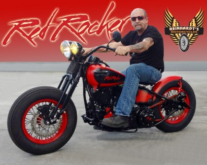 Red Rocker for sale!! All Profits going to charity of Sammy Hagars choice! Hope he signs the bike for the lucky new owner