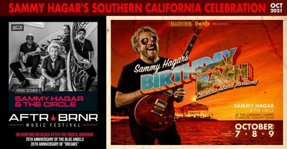 Sammy Hagar's October So-Cal Celebration: Birthday Bash Registration Opens + Afterburner Music Festival