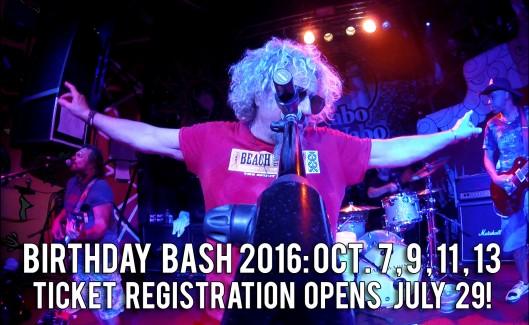 2016 Birthday Bash Ticketing Registration Information!