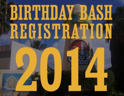 Birthday Bash Registration Dates