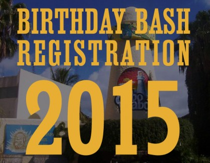 Birthday Bash Registration Dates 2015