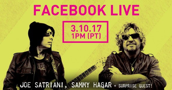Facebook Live with Joe Satriani March 10th!