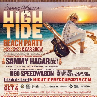Sammy announces new High Tide Beach Party & Car Show in Huntington Beach on Saturday, October 6th