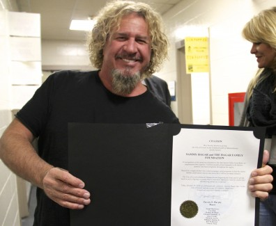 LOWELL DECLARES OCT 25 'SAMMY HAGAR DAY'