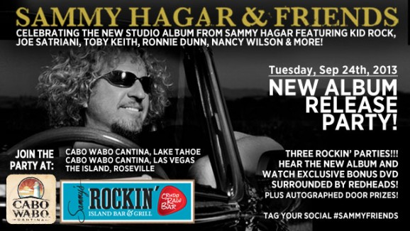 SAMMY HAGAR & FRIENDS NEW CD RELEASE PARTY SEPTEMBER 24!