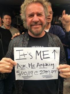 Sammy Hagar Reddit AMA May 10th