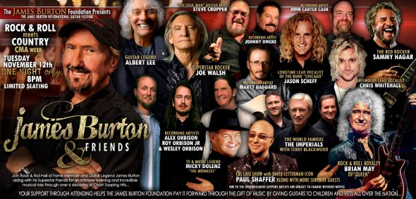 2019-11-12 @  James Burton & Friends: Ft. Sammy Hagar and more at Nashvillle Symphony