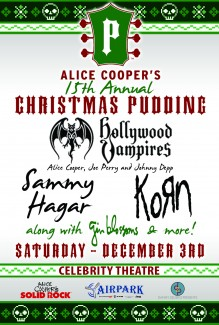 2016-12-03 @ Alice Cooper's 15th Annual Christmas Pudding Show @ Celebrity Theatre