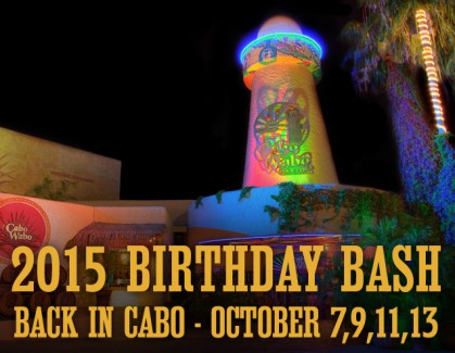 2015-10-07 @ Cabo Wabo Cantina - Birthday Bash! Night 1