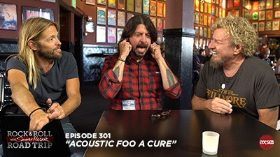 2018-04-08 @ Rock & Roll Road Trip with Sammy Hagar - Episode 301 (Acoustic Foo A Cure)