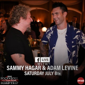 2017-07-08 @ Facebook Live with Sammy Hagar and Adam Levine