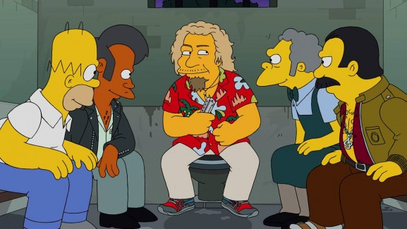 2014-11-23 @ Sammy Hagar appears on the Simpsons!